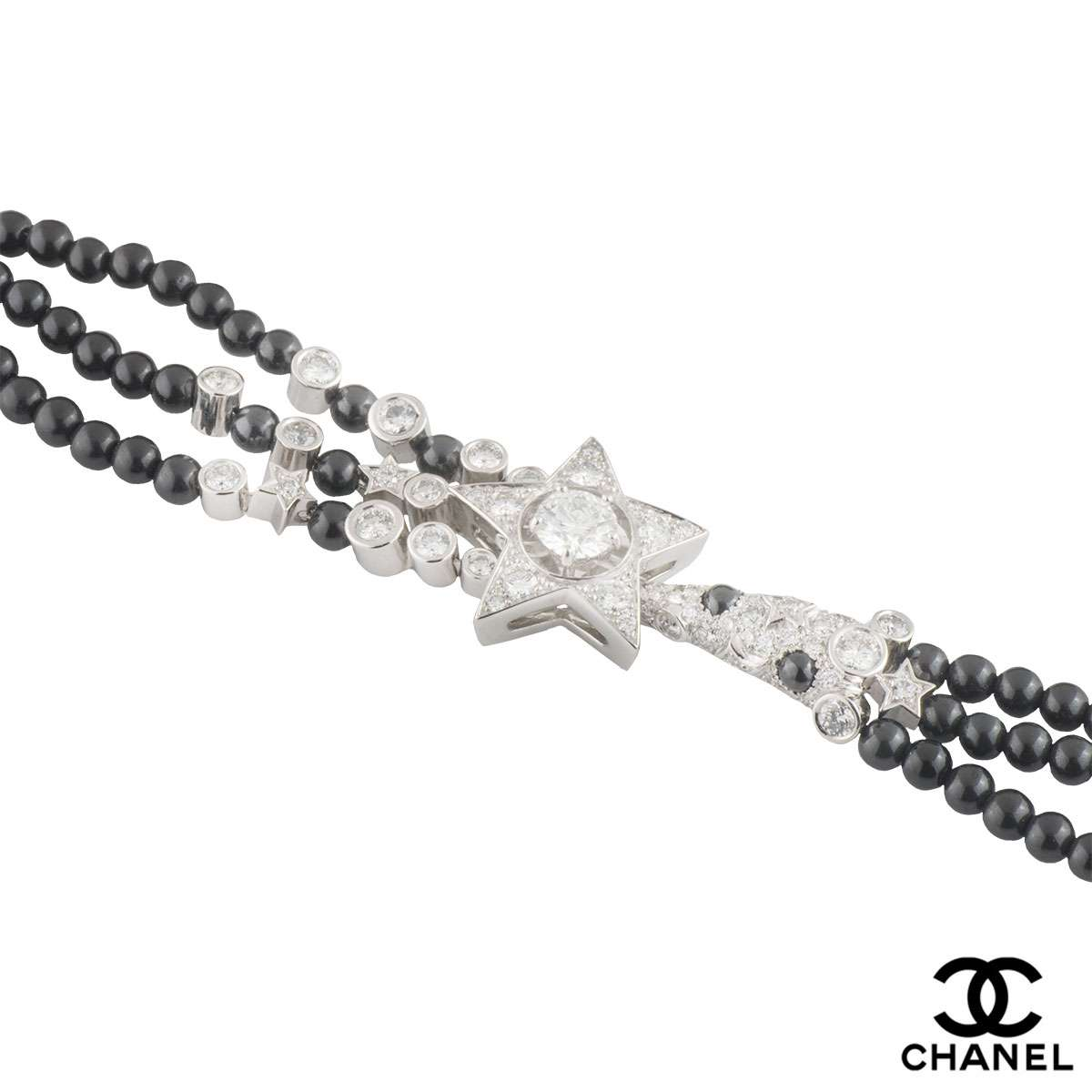 Chanel White Gold Diamond and Spinel Comete Bracelet